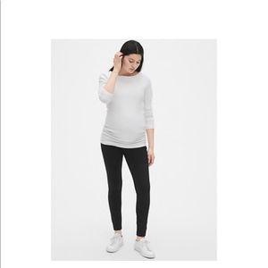 Maternity leggings from Gap.  Charcoal Gray.